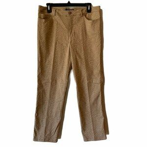 Peace Of Cloth Casey Dress Pants Brown Stretch 10
